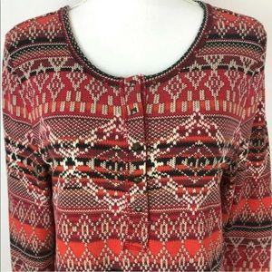 Lucky Brand Tops - Lucky Brand Aztec Long Sleeve Shirt Thermal Top XL
